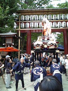 根津神社御遷都座三百年大祭
